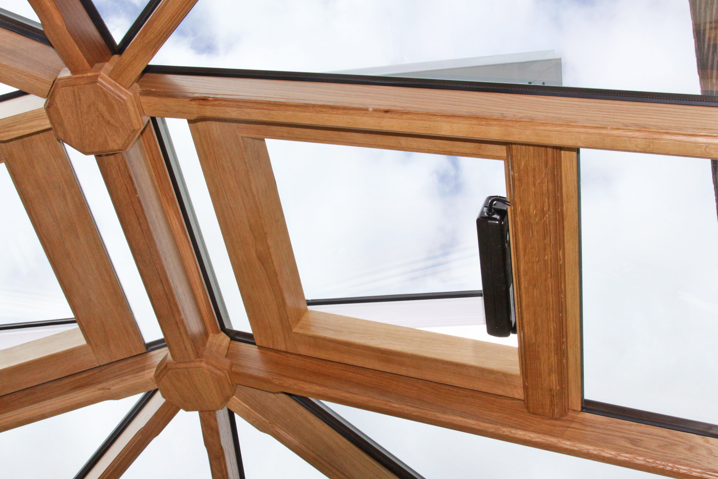 oak lined conservatory roof vent